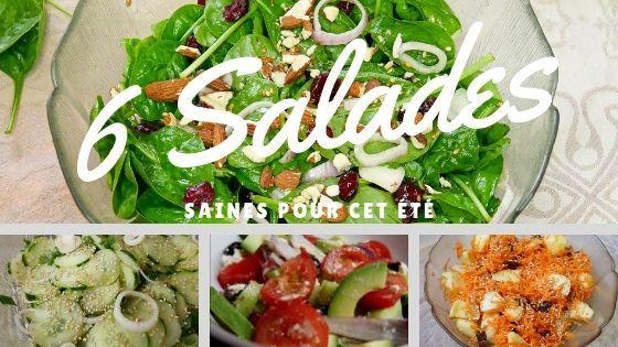 6 recettes de salades saines
