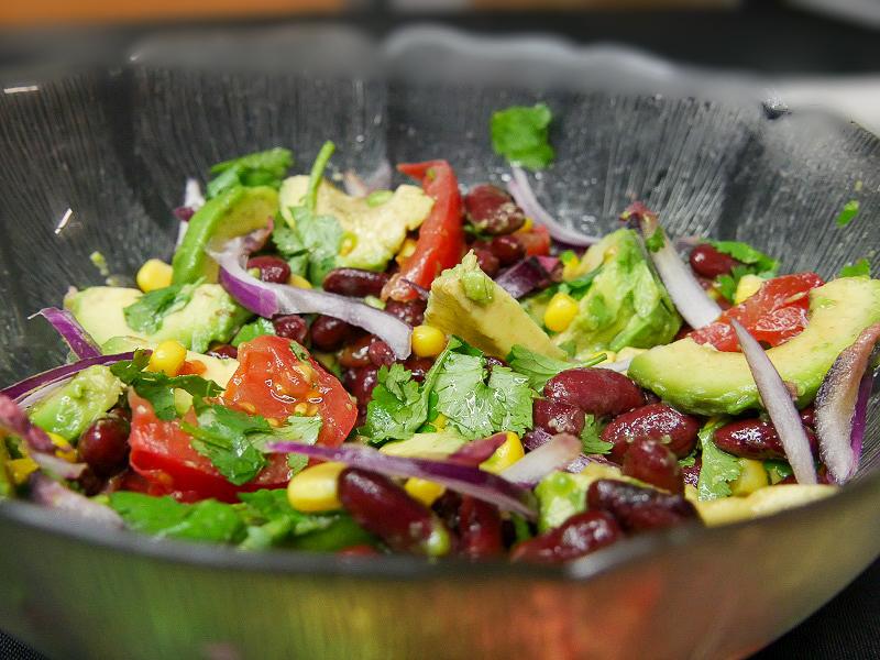 Salade d'haricots rouges à la mexicaine